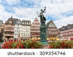 old town square romerberg with... | Shutterstock . vector #309354746