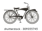 classic bicycle | Shutterstock .eps vector #309355745