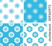 snowflake patterns set  simple...