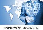 business man using smart phone... | Shutterstock . vector #309368042