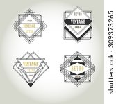 art deco geometric vintage... | Shutterstock .eps vector #309373265