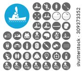 Kayak Icons Set. Illustration...
