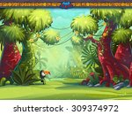 illustration of a toucan jungle ... | Shutterstock .eps vector #309374972