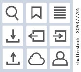 bookmark  sign in icons | Shutterstock .eps vector #309377705