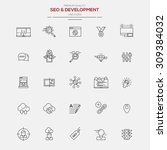 flat line modern icons for seo...