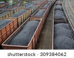 transportation of coal in... | Shutterstock . vector #309384062