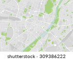 vector map of the city center... | Shutterstock .eps vector #309386222