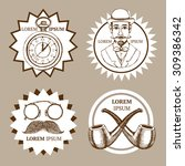 sketch set of gentleman's... | Shutterstock .eps vector #309386342