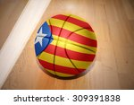 basketball ball with the... | Shutterstock . vector #309391838