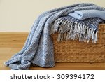cozy blankets in the basket | Shutterstock . vector #309394172