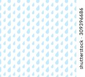 the pattern of blue drops of... | Shutterstock .eps vector #309396686