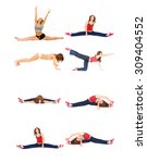 fun and exercise workout beauty  | Shutterstock . vector #309404552