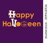 invitation card for halloween | Shutterstock .eps vector #309418526