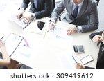 working business people... | Shutterstock . vector #309419612