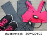 gym outfit   workout clothing ... | Shutterstock . vector #309420602