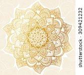 vector vintage pattern in... | Shutterstock .eps vector #309421232