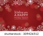 holiday greeting with snowflake ... | Shutterstock .eps vector #309426512