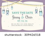 save the date invitation with... | Shutterstock .eps vector #309426518