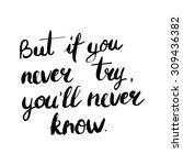 conceptual handwritten phrase... | Shutterstock .eps vector #309436382