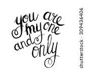 conceptual handwritten phrase... | Shutterstock .eps vector #309436406