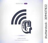 letter g  icon  | Shutterstock .eps vector #309437822