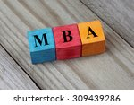 text mba   master of business... | Shutterstock . vector #309439286