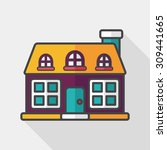 building flat icon with long... | Shutterstock .eps vector #309441665