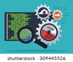 software digital design  vector ... | Shutterstock .eps vector #309445526