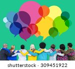speech bubbles message concept... | Shutterstock . vector #309451922