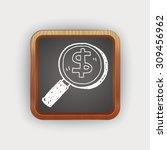 find money doodle   Shutterstock .eps vector #309456962