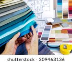 home interior decoration and... | Shutterstock . vector #309463136