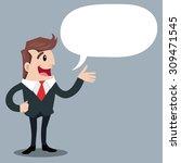 business with speech ballons... | Shutterstock .eps vector #309471545