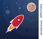 vector rocket illustration ... | Shutterstock .eps vector #309475202