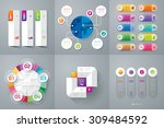 infographic design template can ... | Shutterstock .eps vector #309484592