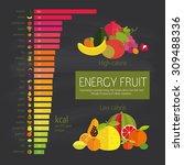 chart energy density fruits and ... | Shutterstock .eps vector #309488336