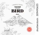 Vintage Bird Design Template....