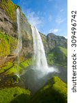 seljalandsfoss is one of the... | Shutterstock . vector #309496742