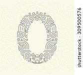vector mono line style... | Shutterstock .eps vector #309500576
