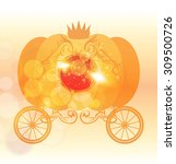 pumpkin car | Shutterstock .eps vector #309500726