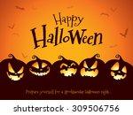 halloween pumpkins | Shutterstock .eps vector #309506756