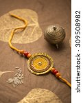 raakhi   a traditional indian... | Shutterstock . vector #309508982