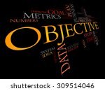 objective word cloud  business... | Shutterstock .eps vector #309514046