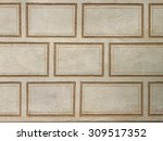 old sgraffito wall in the...   Shutterstock . vector #309517352