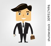 cute businessman vector | Shutterstock .eps vector #309517496