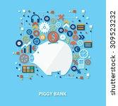 piggy bank concept design on...