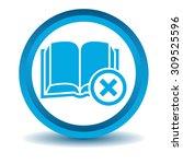 remove book icon  blue  3d ...