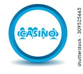 casino icon  blue  3d  isolated ...