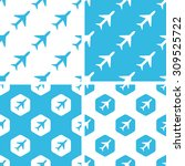 plane patterns set  simple and...