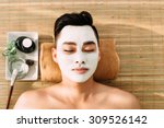 asian young man in spa salon... | Shutterstock . vector #309526142