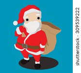 christmas santa claus   Shutterstock .eps vector #309539222